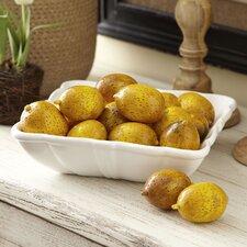 Carved Wooden Lemons (Set of 12)
