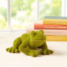 Faux Moss Frog Decor