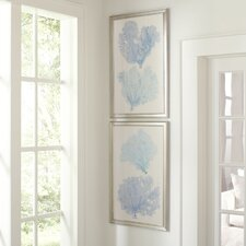 Azure Coral Framed Print Collection