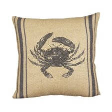 Seafarer Crab Cotton Pillow Cover