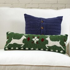 Fair Isle Reindeer Hooked Pillow