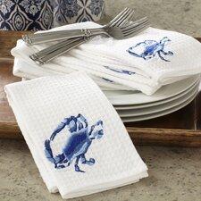 Blue Crab Waffle Weave Napkins (Set of 6)