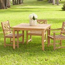 Summerton Teak Square Dining Table