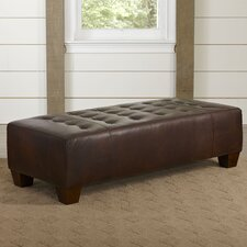Clarence Leather Ottoman