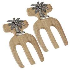 Palm Tree Bamboo Salad Hands (Set of 2)