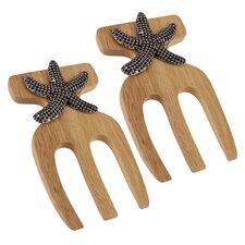 Starfish Bamboo Salad Hands (Set of 2)