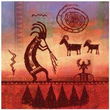 Kokopelli Petroglyph Occasions Trivet