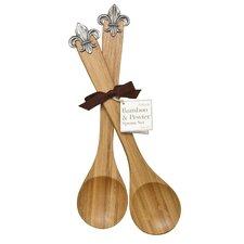 Fleur de Lis Bamboo Serving Spoon (Set of 2)