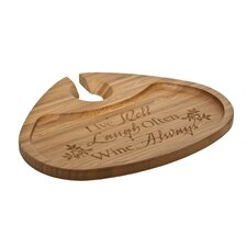 """Bamboo 7"""" Live Well Laugh Often Wine Always Party Plate"""