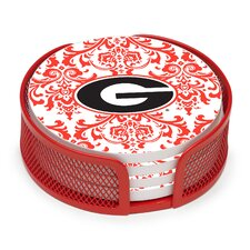 5 Piece University of Georgia Collegiate Coaster Gift Set
