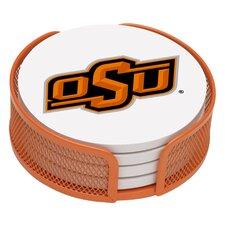5 Piece Oklahoma State University Collegiate Coaster Gift Set