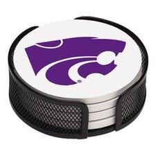 5 Piece Kansas State University Collegiate Coaster Gift Set