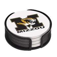 5 Piece University of Missouri Collegiate Coaster Gift Set