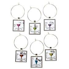 Drunk Wine Glass Charm Set (Set of 6)