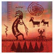 Kokopelli Petroglyph Occasions Coasters Set (Set of 4)