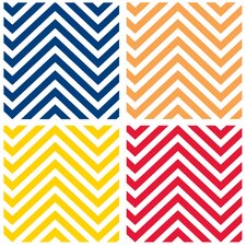 Bright Colors Chevrons Occasions Coasters Set (Set of 4)