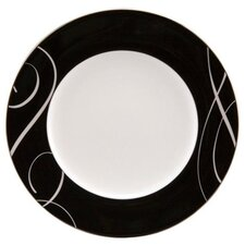"Elegant Swirl 9"" Round Accent Plate (Set of 4)"