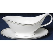 Platinum Beaded Pearl Gravy Boat