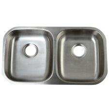 "Loft 32.25"" x 18.5"" Undermount 18 Gauge ADA Compliant Double Bowl Kitchen Sink"