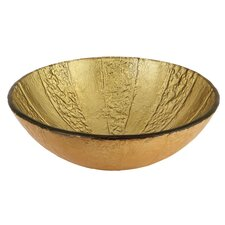 Fauceture Glass Round Vessel Bathroom Sink