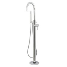 Concord Single Handle Floor Mount Tub Filler with Hand Shower