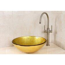 Catania Glass Round Vessel Bathroom Sink