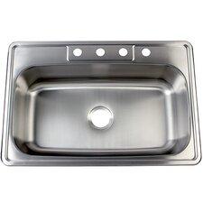 "Studio 22"" x 33"" Gourmetier Self Rimming Single Bowl Kitchen Sink"