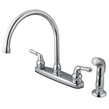 Magellan Double Handle Kitchen Faucet with Non-Metallic Side Spray