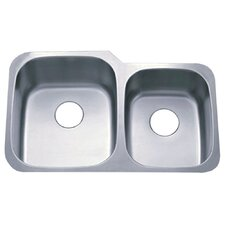 "Loft 20.75"" x 32"" Gourmetier Undermount Double Bowl Kitchen Sink"