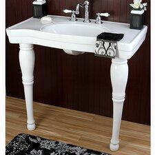 Imperial Wall Mount Pedestal Bathroom Sink