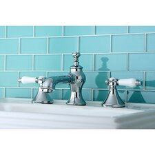 Vintage Double Handle Widespread Bathroom Faucet with Pop-Up Drain