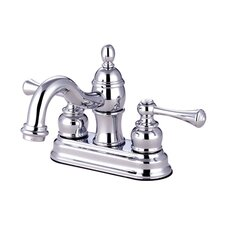 Vintage Double Handle Centerset Bathroom Faucet with ABS Pop-Up Drain