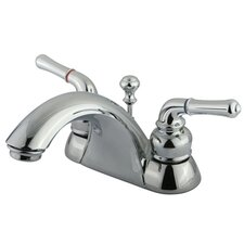 Naples Double Handle Centerset Bathroom Sink Faucet with Matching Pop-Up Drain