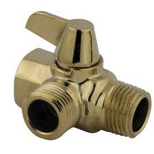 Solid Brass Flow Diverter for Shower Arm Mount