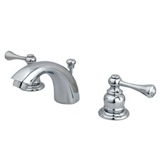 Vintage Double Handle Widespread Bathroom Faucet with ABS Pop-Up Drain