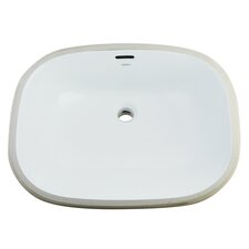 Bath Cove China Square Under Mounted Bathroom Sink
