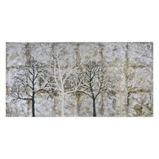 Winter Silhouettes Painting Print on Canvas