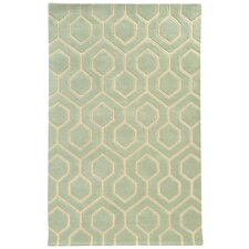 Optic Green/Ivory Geometric Area Rug