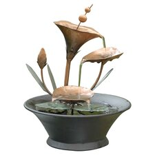 Metal Flower Tabletop Fountain