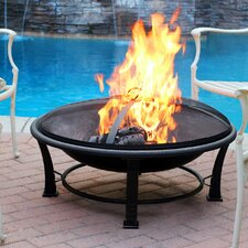 Golden Steel Wood Burning Fire Pit