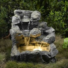 Rock Creek Cascading Fountain with Lights