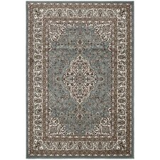 Regal Traditional Medallion Blue Area Rug