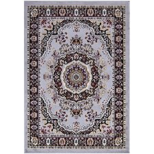 Paterson Traditional Oriental Design Greyish Blue Area Rug