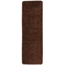 Luxury Brown Solid Shag Area Rug