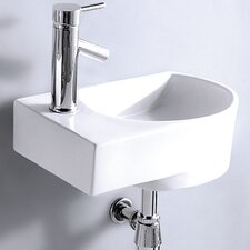 Wall Mounted Rounded Modern Compact Sink