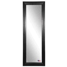 Ava Stitched Black Leather Full Length Body Mirror