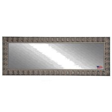 Feathered Accent Double Vanity Wall Mirror