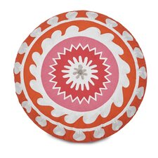Multi Patch Round Decorative Cotton Throw Pillow