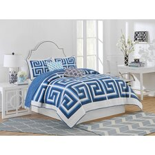 Greek Key Reversible Quilt