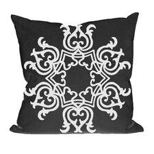 Floral Motif Decorative Throw Pillow
